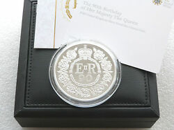 2016 Royal Mint Queens 90th Birthday Uk Andpound10 Ten Pound Silver Proof Coin Box Coa