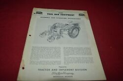 Ford Tractor Tool Bar Equipment Parts Book Manual Amil15
