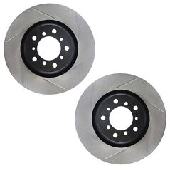 Pair Set Of 2 Front Stoptech Slot Disc Brake Rotors For Bmw E46 M3 2001-2005