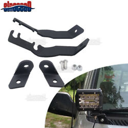 Over Ditch Hood Led Light Pods Mounting Bracets Kit For 1995-2004 Toyota Tacoma