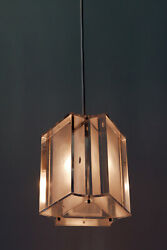 Set Of Two Rare Mid Century Modern Lucite Pendant Lamps Hanging Lights, 1960s