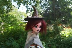 Draculaura Ooak Custom Doll Gift Monster High Witch Doll 17 Inch With Outfit