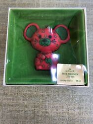 HTF 1978CALICO MOUSE Hallmark Tree Trimmer Christmas Ornament w Orig Box