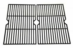 Universal Gas Grill Grates Cast Iron Polished Porcelain Bbq Replacement 2 Pieces