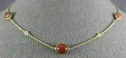 10.34ct Diamond And Fire Opal 14kt Yellow Gold Round And Oval By The Yard Necklace