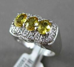 Antique 1.53ct Diamond And Oval Yellow Sapphire 18kt White Gold Halo Cocktail Ring
