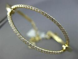 Estate Large And Wide .67ct Diamond 14kt Yellow Gold 3d Classic Oval Bracelet