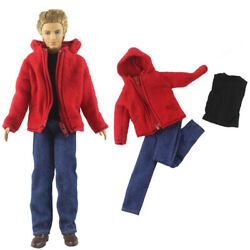 Fashion Doll Clothes For Ken Boy Doll Red Outfits Set 1 6 Dolls Accessories Toy $4.92