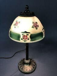 Antique Pittsburgh Lamp And Brass Co. Base Adjustable Shade Support 21 X 7