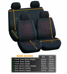 Ford Car Seat Safety Covers Protector Washable Dog Pet Full Set Front Rear