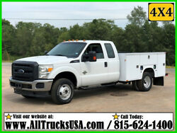 2013 Ford F350 4X4 6.7 POWERSTROKE DIESEL 9' BED SERVICE TRUCK Used Extended Cab