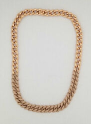 Luna Skye 6.50 carats Diamond Chain Link Choker 14K Rose Gold Retail $7100
