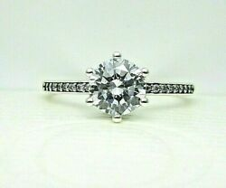 Authentic Pandora 198289cz-52 Clear Sparkling Crown Ring With Cz Size 6