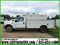 2003 Ford F450 6.0 DIESEL 11' READING BED UTILITY TRUCK Used Regular Cab