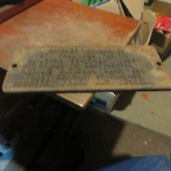 CAST IRON CHICAGO, MILWAUKEE, ST. PAUL AND PACIFIC RAILROAD EQUIPMENT SIGN