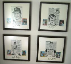 1968 World Series Detroit Tigers Penand Ink Signed Lolich, Mclain, Horton, Stanley