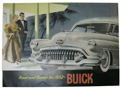 Automotive Promotional Brochure / Front And Center For 1952-- Buick 1st Edition
