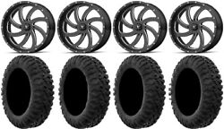 Msa Milled Switch 20 Atv Wheels 35 Motoclaw Tires Can-am Renegade Outlander