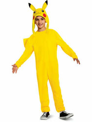 Licensed Nintendo Pokemon Pikachu Deluxe Child Costume Jumpsuit Headpiece Sm-lg