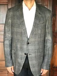 Milano Easy Slim Fit Sportcoat In Cashmere Blend Size 46l New