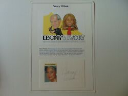 Guess Who I Saw Today Nancy Wilson Hand Signed 8x11.5 Display Todd Mueller Coa