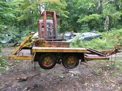 16and039 Heavy Equipment Trailer For Parts Or Repair 12x6and039 Bed