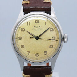 Free Shipping Pre-owned Tissot Antimagnetique Antique Watch Made 1940s