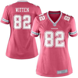 Dallas Cowboys Witten 82 Women's Nfl Pink Game Jersey X-large