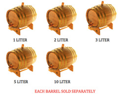 American Oak Barrel Gold Brass Hoops, Age Whiskey, Beer, Wine, Bourbon, And More