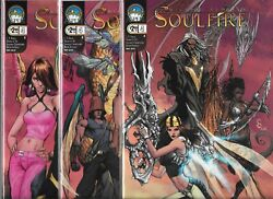 Michael Turner's Soulfire 2009 Series Lot Of 3 - 4 Cover A-c Nm- Aspen