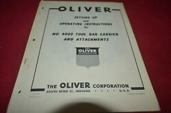 Oliver Tractor 4000 Tool Bar Carrier Operator's Manual Amil15