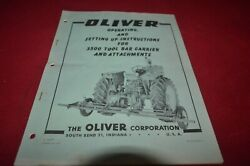 Oliver Tractor 3500 Tool Bar Carrier Operator's Manual Amil15