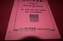 Oliver Tractor 3000 Tool Bar Carrier Operator's Manual Amil15