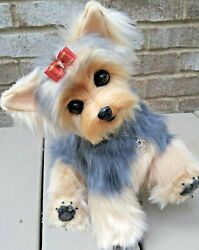 OOAK_artist_pose able_realistic_Yorkie_Yorkshire Terrier_puppy_dog_hand made