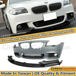 M-Performance Style Front Lip Bumper PDC M Sport For 11-13 BMW 5 Series F10