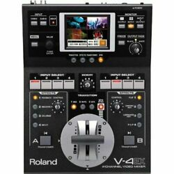 Roland V-4ex 4 Channel Digital Compact Video Mixer Camera Photo Switchers Ruters