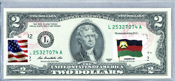 Federal Reserve Banknote 2 Dollar Bill Currency Paper Money Us Unc Stamps Flag