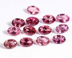 Pink Natural Loose Tourmaline Gemstone Faceted Cut Oval Size 3x4mm To 6x8mm