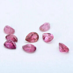 Natural Pink Tourmaline Faceted Pear Cut Pink Color Calibrated Loose Gemstones