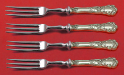 Buttercup By Gorham Sterling Silver Fruit Fork Set 4-piece Custom Made 6 Hh Ws