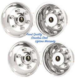 17.5 Imported Truck 6 Lug Stainless Wheel Simulator Rim Liner Hubcap Covers ©