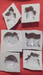 6 Piece Halloween Candy Cream Cheese Mint Grey Rubber Molds