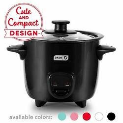 Dash Drcm200bk Mini Rice Cooker Steamer With With Removable Nonstick Pot Keep W