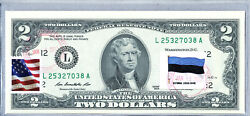 Two Dollar Note United States Currency 2 2013 Paper Money Country Flag Estonia