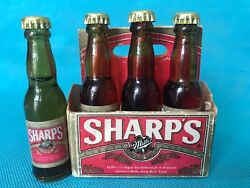 6 Pack Of 4 Miller Sharpand039s Mini Miniature 3 Glass Bottles Not Cola Six Beer
