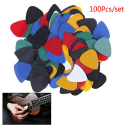 100x Acoustic Bulk Celluloid Electriclored Smooth Guitar Pick Pick Plectr _WK
