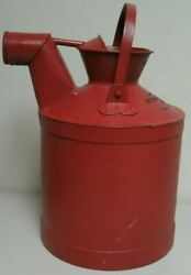 Vintage Standard Oil Co Of Indiana 5 Gallon Liquid Measuring Can Red