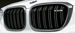 BMW OEM 2018+ G01 F97 X3 M Performance Front Carbon Fiber Grille Pair Brand New