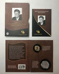 2015 Us Mint Coin And Chronicles Stamp Included John F. Kennedy Jfk Set Omp/coa