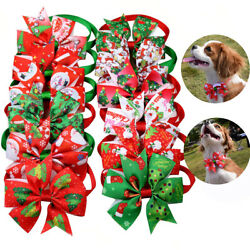 100X Christmas Pet Puppy Dog Cat Bowtie Dog Bow Ties Dog Grooming Accessories